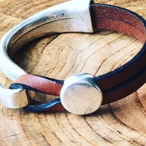 Brown Leather Bracelet for Women - Extra Small